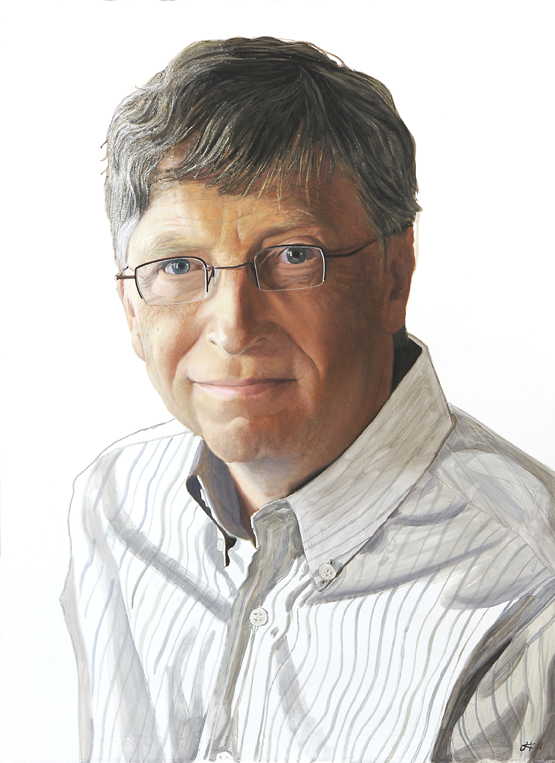2065 Bill Gates Portrait Study