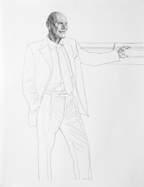 1074 Fred Kavli Pencil Sketch #9