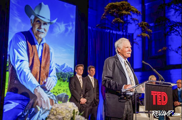 Ted Turner speaking at the NPG unveiling ceremony 12-02-14