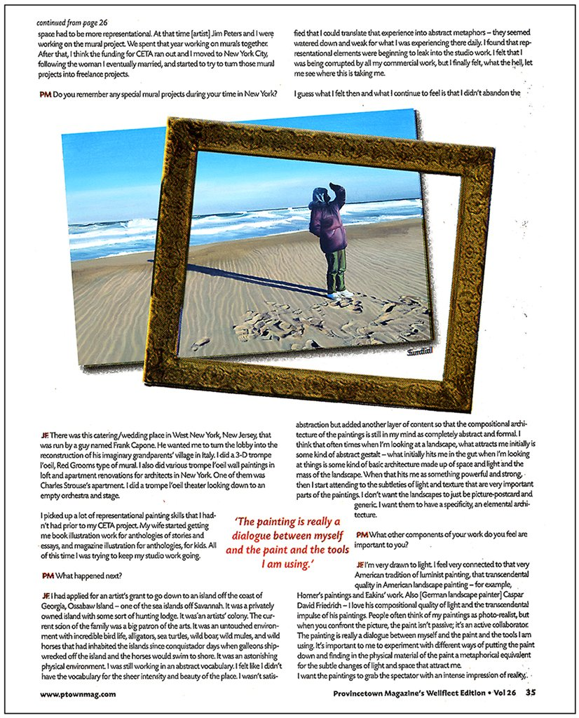 Provincetown Magazine Wellfleet Edition, Vol. 26, Feature Article page 35