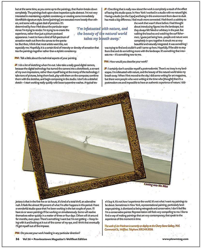 Provincetown Magazine Wellfleet Edition, Vol. 26, Feature Article page 36