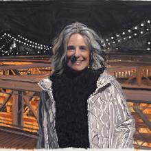 2020 Joanne on the Brooklyn Bridge