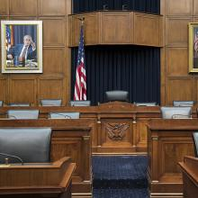 Barney Frank Portrait installation in the Banking & Finance Committee Room of the House of Representatives