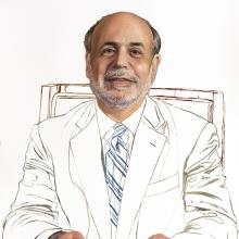 2183 Ben Bernanke, Study #2 (holding pencil in both hands)
