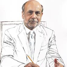2184 Ben Bernanke, Study #3 (seated facing front)