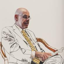 2192 Henry Waxman, Study #5 (seated with paper)