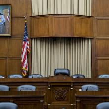 2206 Henry Waxman Portrait hanging in the House Energy and Commerce Committee Room