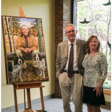 2204 Leon and Lisa Gorman at the LL Bean portrait presentation May 15, 2015