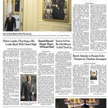 Front Page of the New York Times 12-30-13